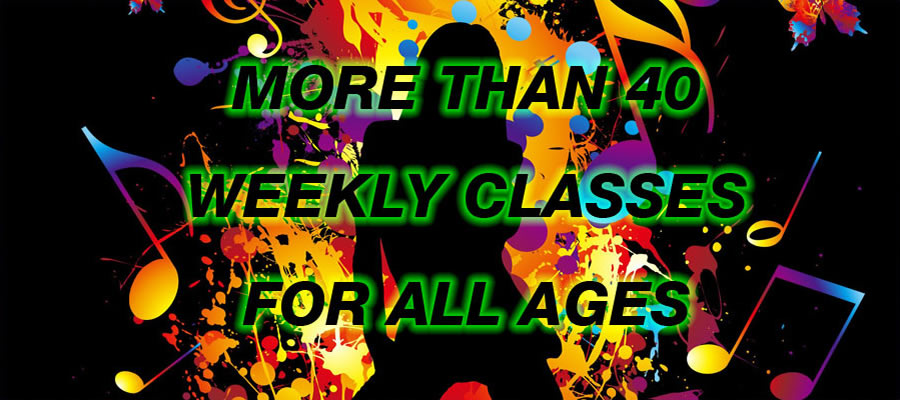 More than 40 weekly classes for all ages